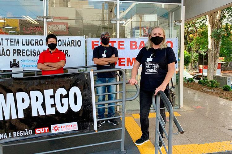 Sindicato de Apucarana participa do Dia Nacional de Luta contra demissões no Bradesco