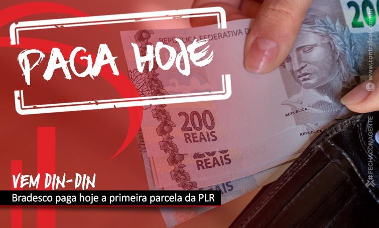 Bradesco paga PLR nesta segunda-feira (20)